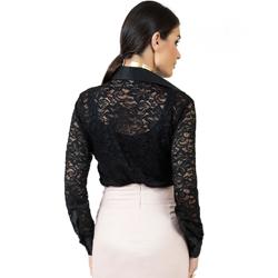 detalhe camisa de renda preta social principessa larissa malha corte