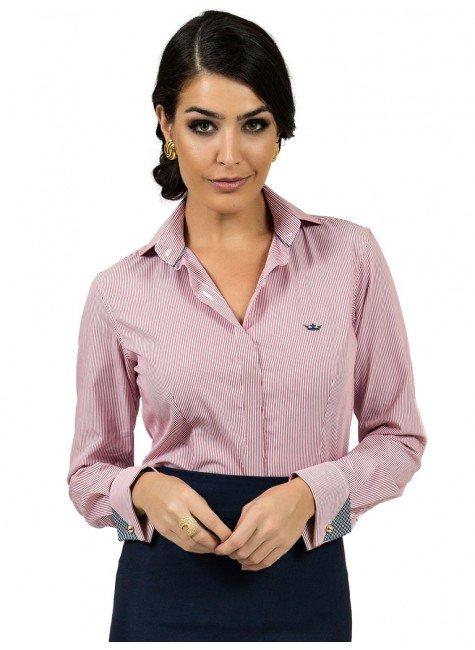 camisa premium listada principessa charlize vista coberta look