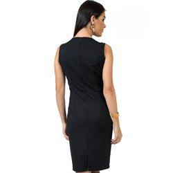 vestido de alfaiataria preto principessa claudete corte modelagem