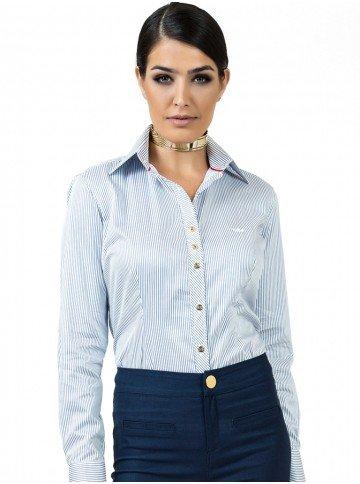 Camisa Premium Listrada Fio Egípcio Principessa Yandra
