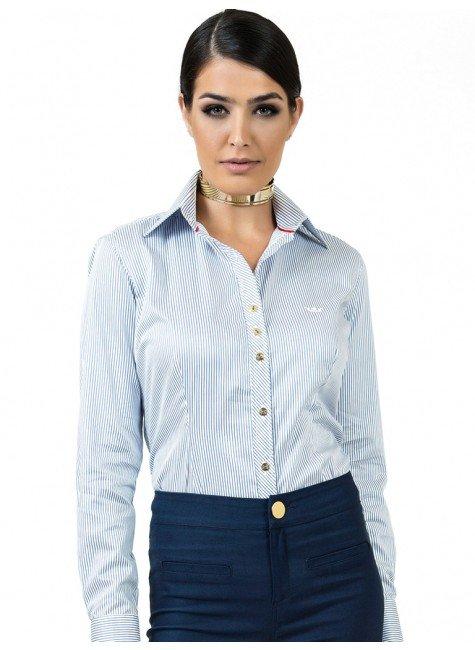 camisa listrada premim fio egipcio principessa yandra look