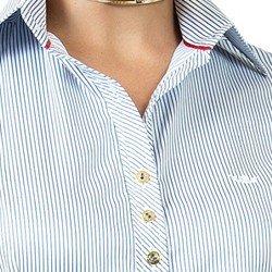 detalhes camisa listrada premim fio egipcio principessa yandra botoes