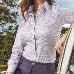 detalhes camisa listrada premim fio egipcio principessa yandra corte