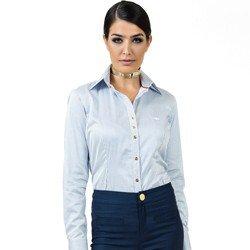 detalhes camisa listrada premim fio egipcio principessa yandra tecido