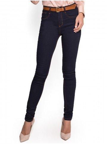 calca skinny jeans escura cintura media dz2385 look