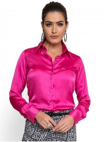 camisa de cetim pink principessa rafaele