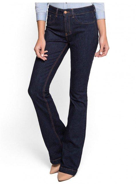 calca jeans flare cintura alta dz 2517