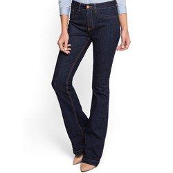calca flare jeans escuro marinho social denim zero dz2517 look