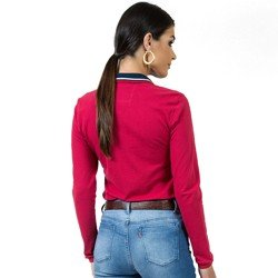 detalhe camisa polo vermelha feminina manga longa principessa helen look costa