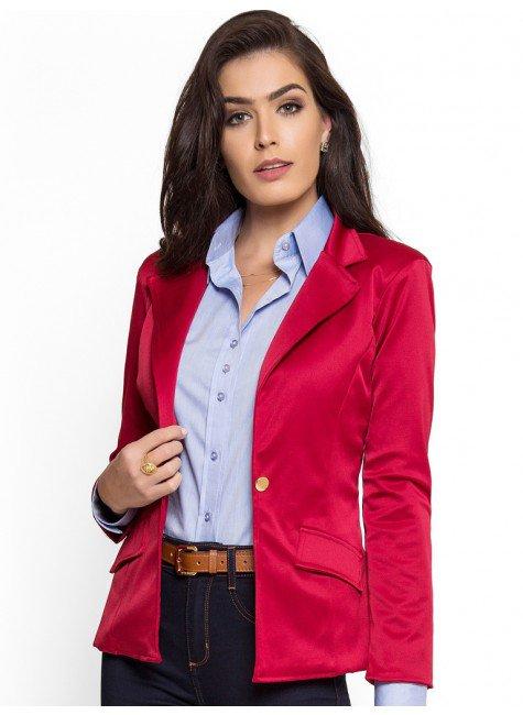 blazer vermelho escuro principessa rubiane look