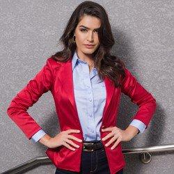 blazer vermelho escuro principessa rubiane como usar