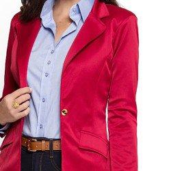 blazer vermelho escuro principessa rubiane detalhes e acabamentos