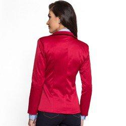 blazer vermelho escuro principessa rubiane corte e modelagem
