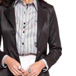 blazer preto feminino social principessa acabamentos e detalhes