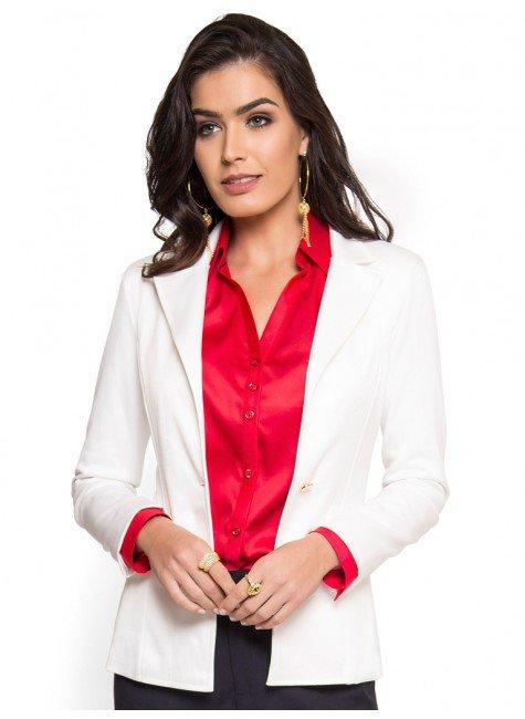 blazer off white social feminino principessa gracieni look completo
