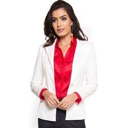 blazer off white social feminino principessa gracieni como usar