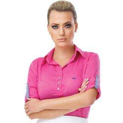 camisa pink social manga longa principessa talita