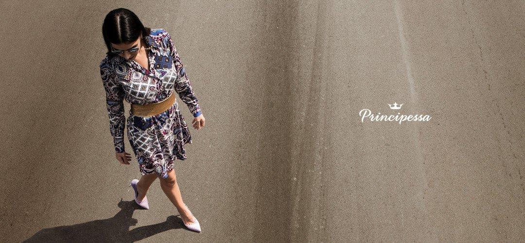banner conceito vestido chemise principessa isidora