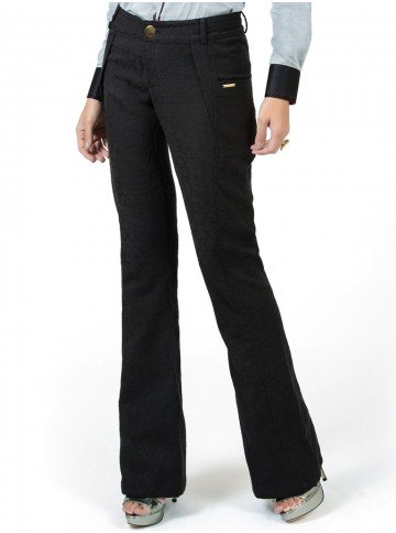 calca feminina preta cintura alta social principessa francesca look
