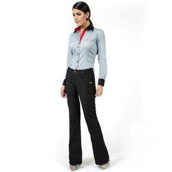 detalhes calca feminina preta cintura alta social principessa francesca compre look