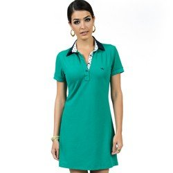 vestido polo verde manga curta principessa rubia look