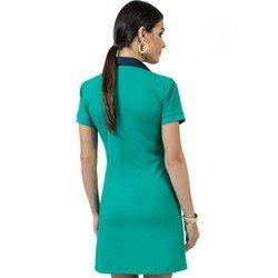 vestido polo verde manga curta principessa rubia look costa
