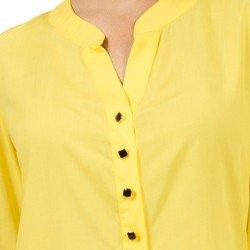 bata feminina amarela principessa italise detalhe gola v