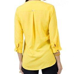 bata feminina amarela principessa italise detalhe tecido corte