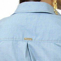 vestido jeans claro manga longa principessa kelly placa metal