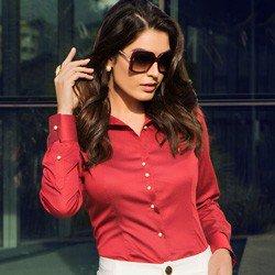 camisa premium fio egipcio vermelha principessa alexia