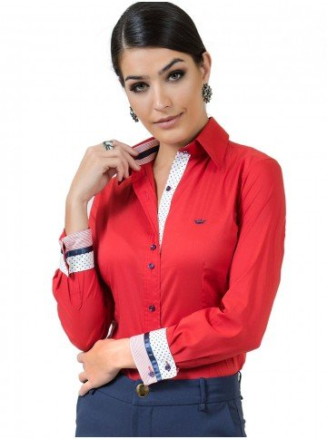 camisa social feminina com elastano principessa lizandra look