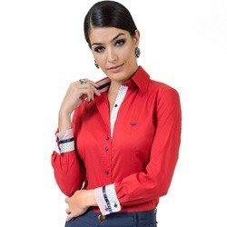 camisa social feminina com elastano principessa lizandra look detalhe