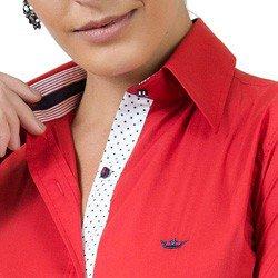 camisa social feminina com elastano principessa lizandra colarinho estruturado