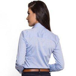 camisa social feminina com bolso principessa thaiza detalhes look modelagem