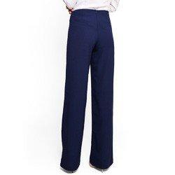 calca social pantalona marinho principessa paulina detalhe corte tecido