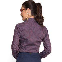 camisa social listrada principessa antonia marinho discreta corte modelagem
