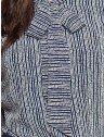 camisa social gola de laco estampada marinho principessa lorita amarrado