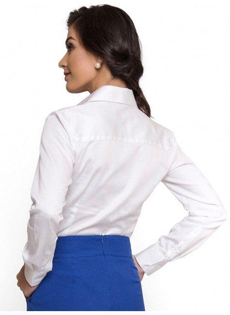 2f951ca58a ... camisa basica branca com elastano feminina principessa roberta look  costa ...