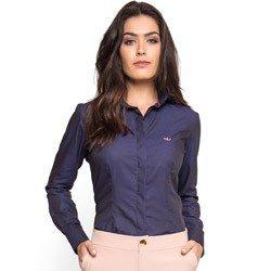 camisa social premium marinho maquinetado principessa nadine look comprar
