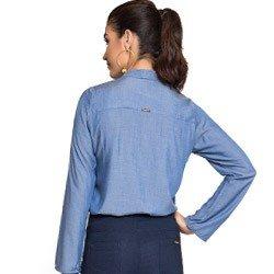 blusa imita jeans gola laco principessa manuela manga flare laco look corte amplo