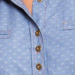 camisa jeans feminina maquinetado principessa jordane triplos no busto