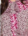 camisa gola de laco estampada feminina principessa ana vitoria amarracao