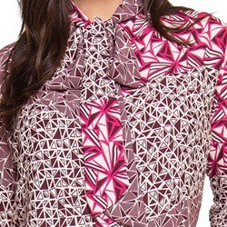 camisa gola de laco estampada principessa ana leticia detalhes laco