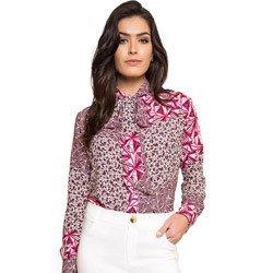 camisa gola de laco estampada principessa ana leticia detalhes look completo comprar