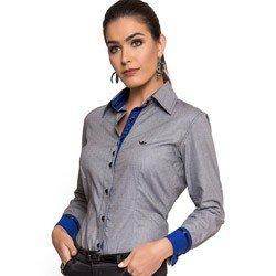 camisa social micro xradez preta principessa cleo tecido fio egipcio