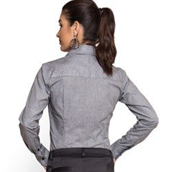 camisa social micro xradez preta principessa cleo tecido fio egipcio modelagem slim