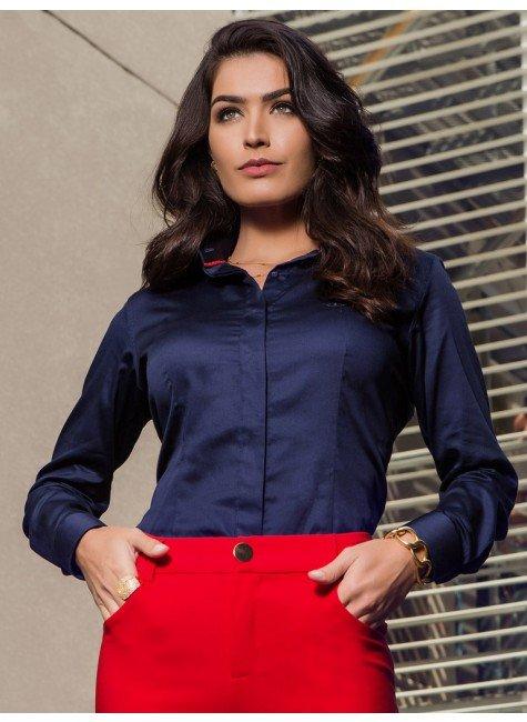154ea99f7 ... camisa social feminina marinho principessa leona conceito