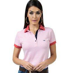detalhe polo feminina maquinetada rosa principessa graciela look