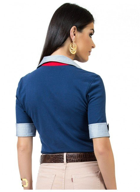 104d260c26 ... camisa polo marinho feminina principessa ingrid look costa ...