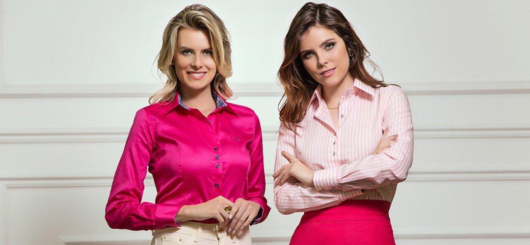 foto conceito outubro rosa camisa social